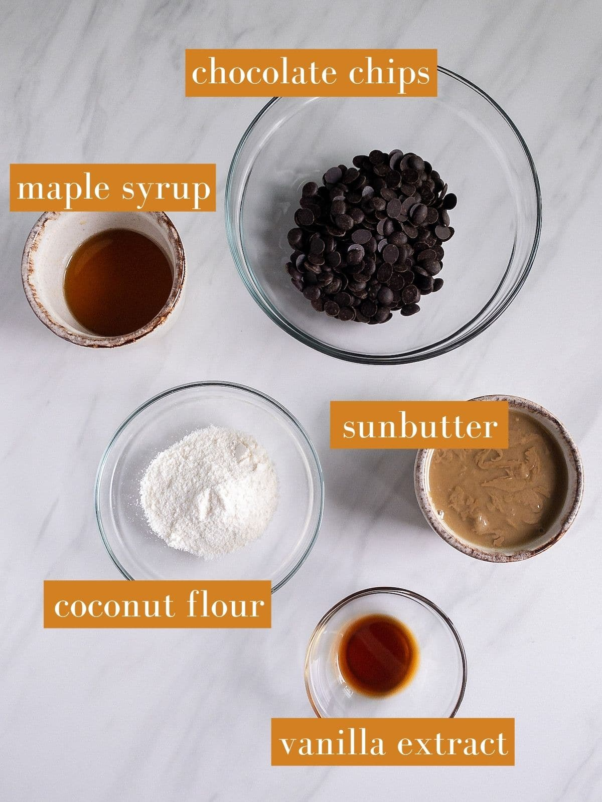 Homemade Healthy Reeses Sunbutter Pumpkins Ingredients Shot