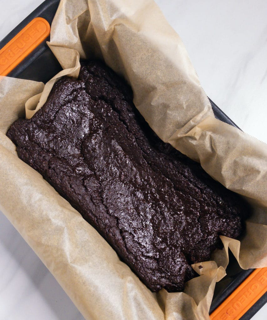 Chocolate banana bread loaf