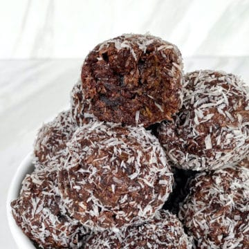 Tower of healthy energy balls